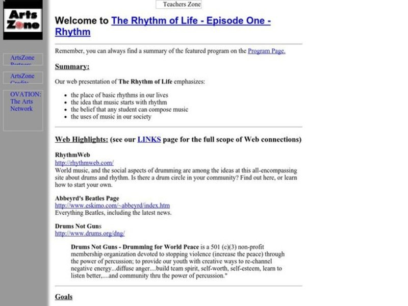 The Rhythm of Life - Episode One - Rhythm Lesson Plan
