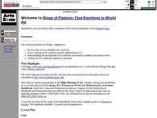 Rings of Passion: Five Emotions in World Art Lesson Plan