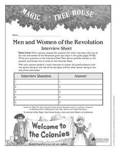 Revolutionary War on Wednesday Lesson Plans & Worksheets
