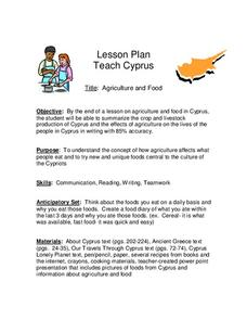 Agriculture and Food Lesson Plan
