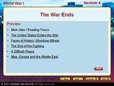 World War I - The War Ends Presentation