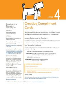 Creative Compliment Cards Lesson Plan