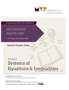 Systems of Equations and Inequalities Unit