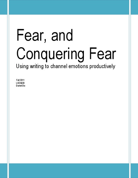 Fear, and Conquering Fear Unit