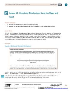Describing Distributions Using the Mean and MAD Assessment