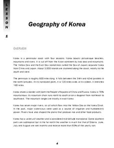 Geography of Korea Lesson Plan