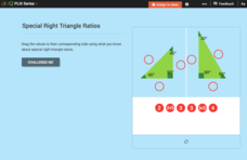 Special Triangle Ratios: Special Right Triangle Ratios Interactive