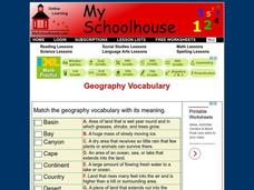 Geography Vocabulary Interactive