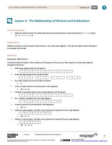 The Relationship of Division and Subtraction Assessment