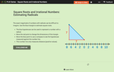 Square Roots and Irrational Numbers: Estimating Radicals Interactive