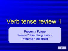 Verb Tense Review 1 Presentation