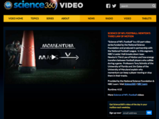 Science of NFL Football: Newton's Third Law of Motion Video