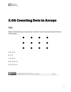Counting Dots in Arrays Assessment