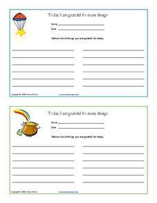 Gratitude Journal (Worksheet) | Therapist Aid