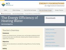 The Energy Efficiency of Heating Water Activities & Project