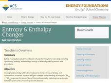 Entropy and Enthalpy Changes Activities & Project