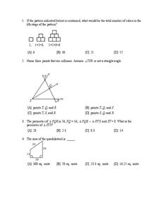 Geometric Figures Review Worksheet