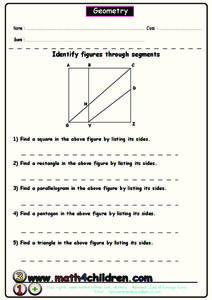 Geometric Figures Worksheet