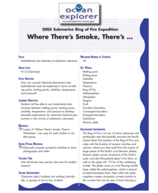 Where There's Smoke, There's ... Lesson Plan