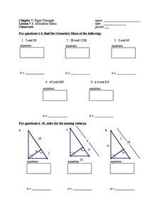 geometric mean worksheet - Geometric Mean Worksheet