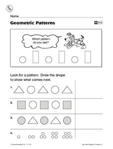 Geometric Patterns Worksheet