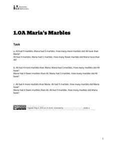 Maria's Marbles Assessment