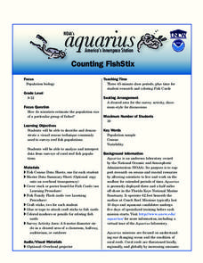 Counting FishStix Lesson Plan
