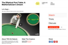 The Elliptical Pool Table: A Mathematician's Dream Video