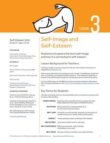 Self-Image and Self-Esteem Lesson Plan
