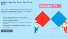 Additive and Multiplicative Rules for Probability: Red Dress? Blue Dress? Both! Interactive