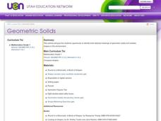 Geometric Solids Lesson Plan