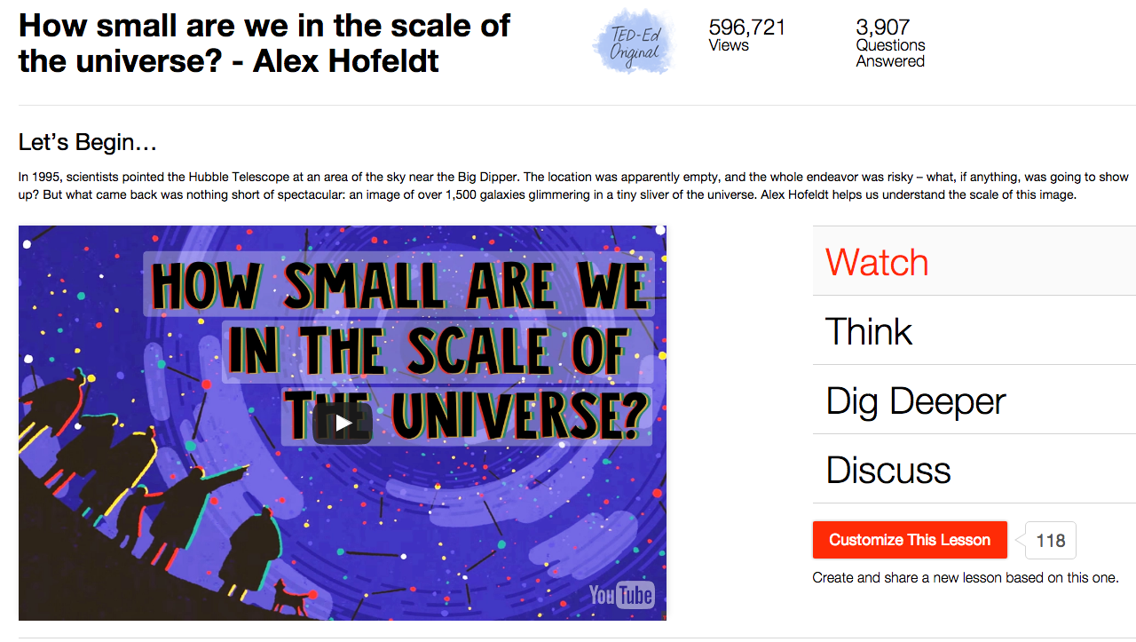 How Small Are We in the Scale of the Universe? Video