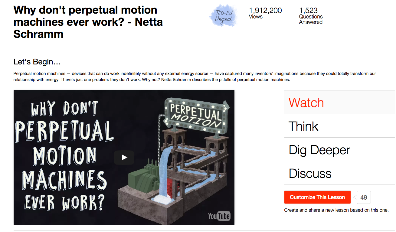 Why Don't Perpetual Motion Machines Ever Work? Video