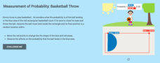 Measurement of Probability: Basketball Throw Interactive