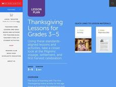 The First Thanksgiving (Grades 3-5) Unit for 3rd - 5th ...
