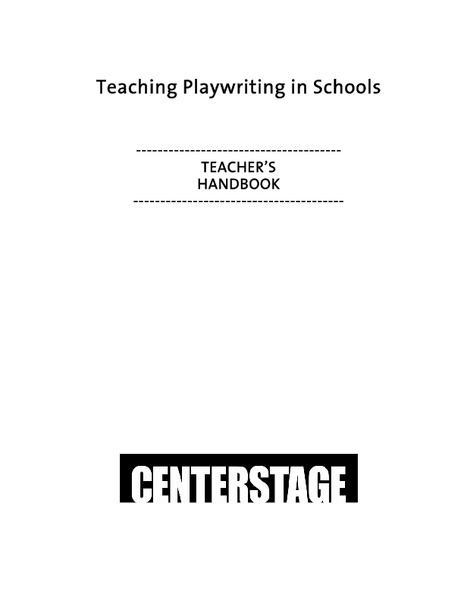 Teaching Playwriting in Schools Unit