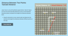 Distance Between Two Points: Taxicab Distance Interactive