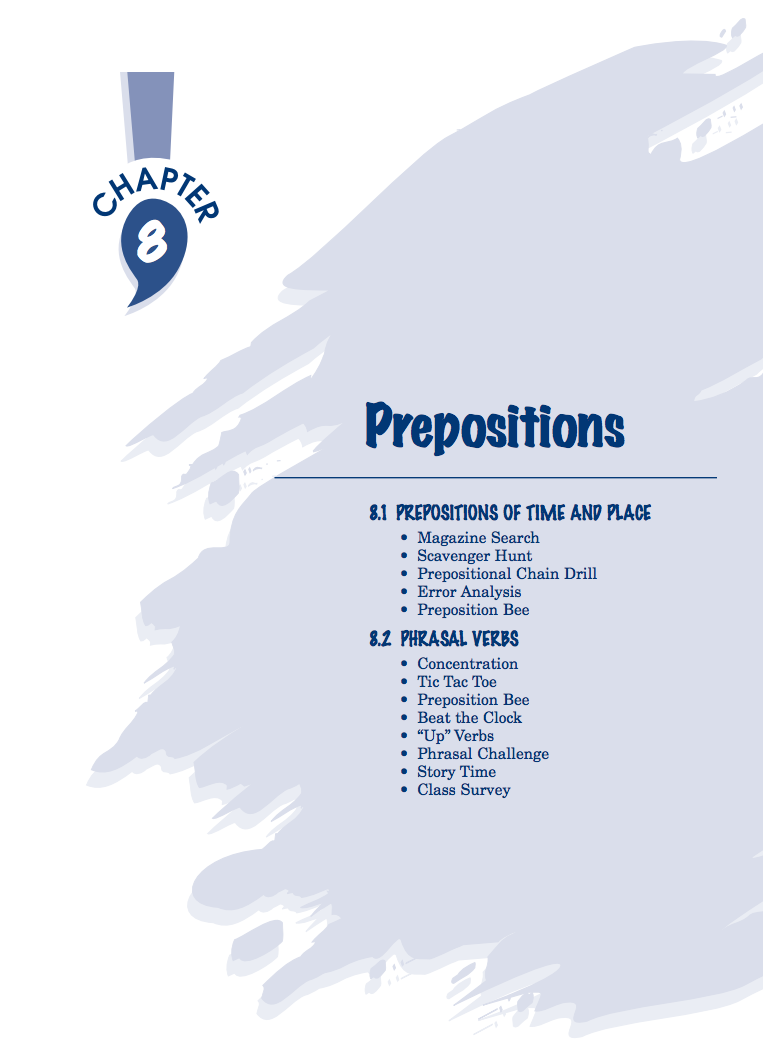 Prepositions Activities & Project