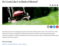 Do I Look Like I'm Made of Money? Lesson Plan