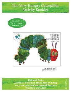 The Very Hungry Caterpillar Activity Booklet Activities & Project