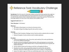 Reference Tools Vocabulary Challenge Lesson Plan