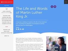 The Life and Words of Martin Luther King, Jr. Worksheet