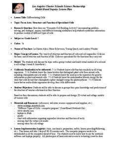 Inquiry Based Cell Biology Lesson Plans & Worksheets