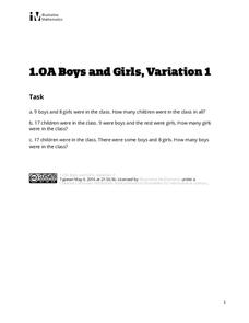 Boys and Girls, Variation 1 Assessment
