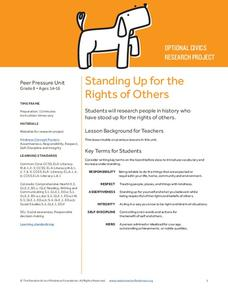 Standing Up for the Rights of Others Lesson Plan