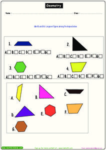 Geometry - Congruent Figures Worksheet