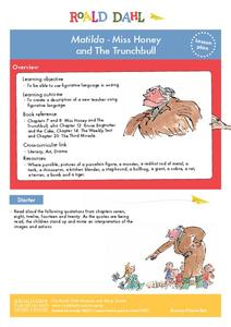 Matilda - Miss Honey and The Trunchbull Lesson Plan