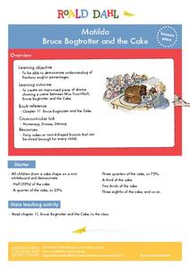 Matilda - Bruce Bogtrotter and the Cake Lesson Plan