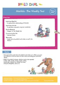 Matilda - The Weekly Test Lesson Plan