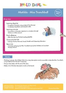 Matilda - Miss Trunchbull Lesson Plan